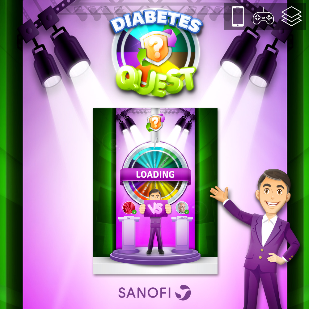 DIABETES QUEST - MOBILE GAME for SANOFI PASTEUR