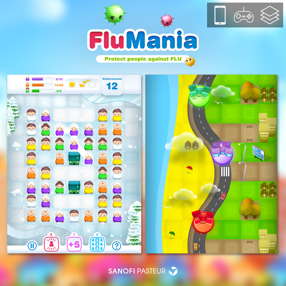 FLUMINIA - MOBILE GAME for SANOFI PASTEUR