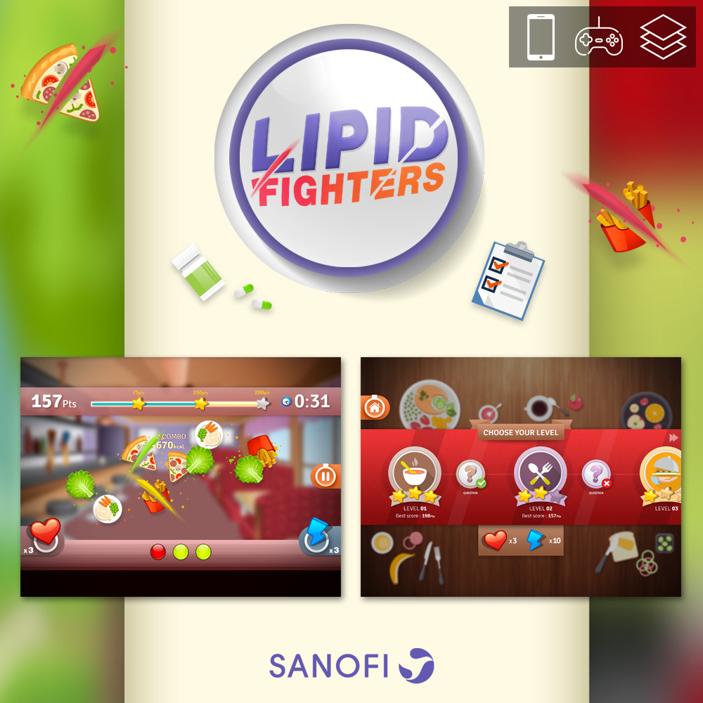 LIPID FIGHTER - MOBILE GAME for SANOFI